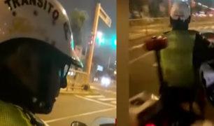 [VIDEO] Policía es captado recibiendo coima en Magdalena