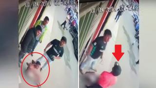 Delincuente es desnudado, arrastrado, golpeado pero su cómplice logra rescatarlo