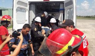 Nasca: choque entre bus y camión deja dos muertos y más de diez heridos
