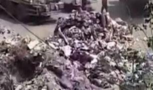 Comas: municipio aseguró que basura en depósito es hecho aislado