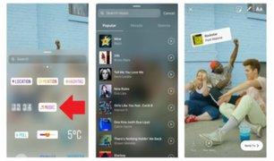 Instagram activa la función de música en 'stories' y perfiles en Perú