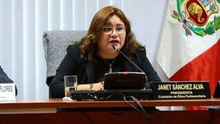 Janet Sánchez continuará presidiendo la Comisión de Ética