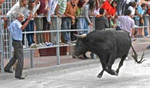España: anciano muere tras ser embestido por vaca durante festejo taurino