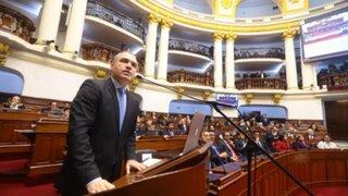 Premier del Solar y ministro Oliva sustentan presupuesto para el  2020 ante el Pleno