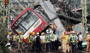 Japón: al menos un muerto y 30 heridos deja choque de tren y camión