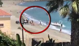 Registran desembarco de droga a plena luz del día en una playa de España
