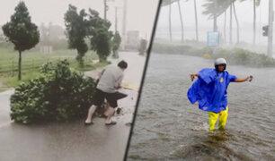 """Japón: tifón """"Lingling"""" de categoría 4, deja 5 heridos a su paso"""