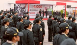 Gobierno asignó más de cuatro mil policías para combatir la delincuencia