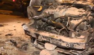 Costa Verde: autos quedaron destruidos tras presunta carrera de 'piques'