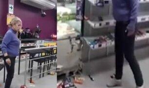 Breña: revelan nuevas imágenes de mujer en estado de ebriedad que destrozó Tambo