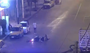 Impactantes imágenes: jóvenes ebrias provocan accidente en moto