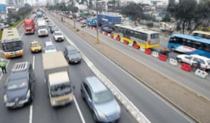 Panamericana Sur: inician retiro de separadores de carril exclusivo