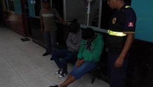 La Libertad: intervienen a tres menores que asaltaron a mujer con bebé en brazos
