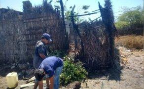 Piura: investigan incendio presuntamente provocado en casa de un policía en Sullana