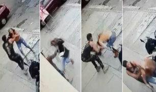Los Olivos: sujeto golpeó a la madre de su hijo en la calle y le arrebató sus pertenencias