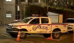 Mujer se quita la vida dentro de patrullero en Miraflores