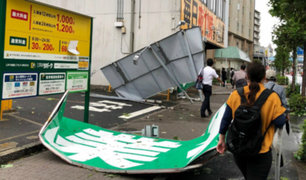 Japón: dos personas fallecidas deja paso de tifón Faxai