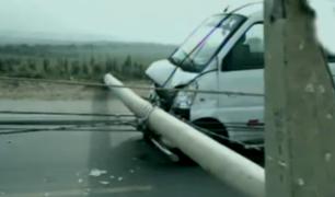Pisco: vientos huracanados provocaron caída de postes de alta tensión
