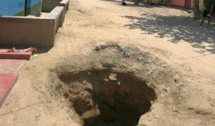 Piura: Damnificados por Niño costero cavan huecos para conseguir agua potable