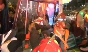 Callao: accidente que dejó 20 heridos se produjo por competencia entre cústers