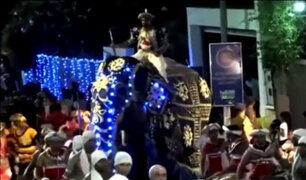 Sri Lanka: así embistió un elefante a multitud en desfile