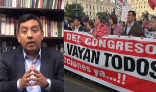 Santiváñez: El pueblo quiere que los poderes dejen de enfrentarse y gobiernen