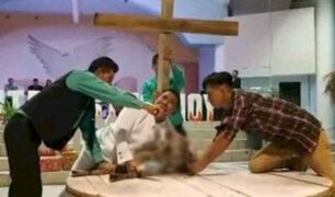 En nombre de Dios: Pastor degolló animal durante culto religioso