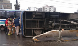 San Borja: bus accidentado registra 4 mil 420 soles en multas