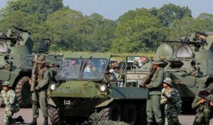 Venezuela inició ejercicios militares en frontera con Colombia