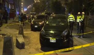 SJL: policía chocó taxi y disparó al conductor para no pagar por los daños