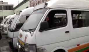 Vehículos robados eran usados para transporte público
