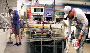 Venezolanos se organizan para limpiar puentes de Vía Expresa Grau
