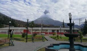 Volcán Ubinas: se registró una nueva explosión esta mañana