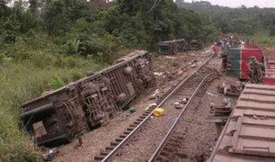 Más de 50 muertos dejó descarrilamiento de tren en el Congo