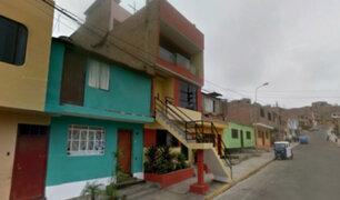 SJL: vecinos fastidiados por escalera que invade la vereda
