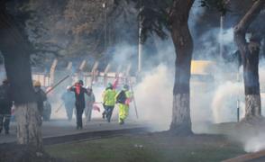 Al menos 30 mineros fueron detenidos por irrumpir en el Ministerio de Trabajo durante protesta