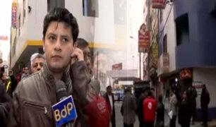 SMP: Alcalde suspende actividades en comercios de zona roja de Fiori por 30 días