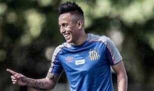 Christian Cueva fue convocado en Santos luego de más de tres meses
