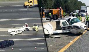EEUU: avioneta se estrella contra vehículo en carretera de Maryland