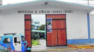Sunedu deniega licencia a universidad de Ayacucho Federico Froebel