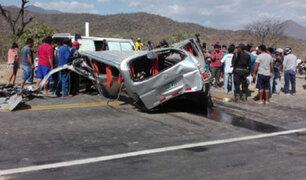 Lambayeque: Dos muertos y 10 heridos dejó accidente de tránsito