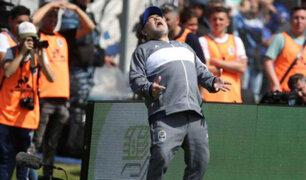 Maradona debutó como técnico con derrota en torneo argentino de fútbol