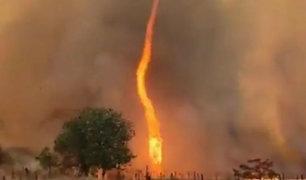 Brasil: tornados de fuego generaron pánico en Goiás