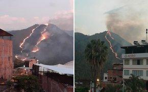 Chanchamayo: población alarmada por incendio forestal en cerro de La Merced