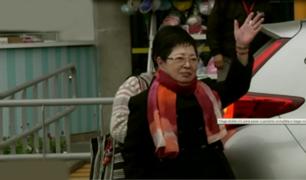 Susana Higuchi visitó a su hija Keiko en clínica donde permanece internada