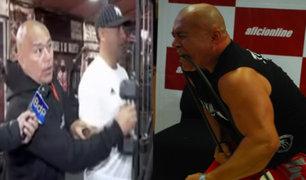 El hombre más fuerte del Perú entrena a serenos de Surco