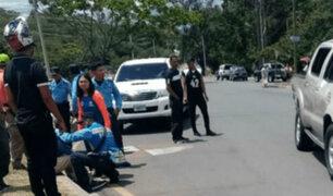 Honduras: policía fallece en accidente por no llevar cinturón de seguridad
