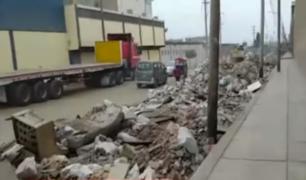 Cercado de Lima: toneladas de desmonte perjudica a vecinos y conductores