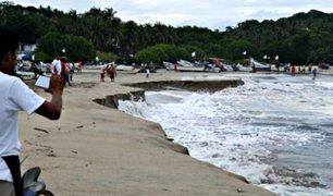 México: un extraño fenómeno hunde una playa