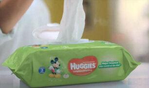 Alertan presencia de bacterias en pañitos y toallitas húmedas Huggies en Perú